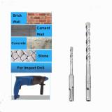 Conjunto de broca de martelo elétrico 8pcs 5-12mm Broca de concreto de alvenaria com ponta de metal duro Broca de tijolo de concreto