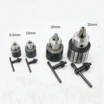 Adaptador de mandril de perfuração elétrica de 0.6 mm-6.5 mm / 1.5 mm-10 mm / 3 mm-16 mm / 5 mm-20 mm com chave