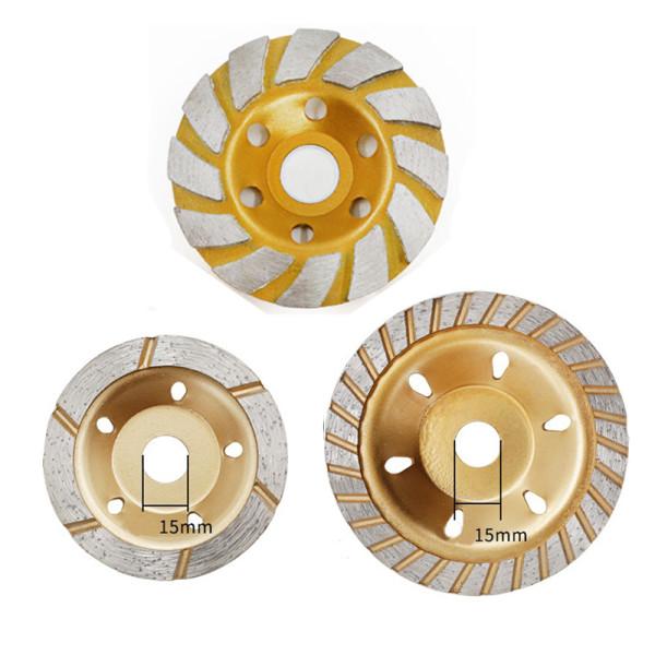 80 mm / 100 mm Disco de desbaste de diamante Disco de roda de concreto para moagem de pedra de granito de concreto