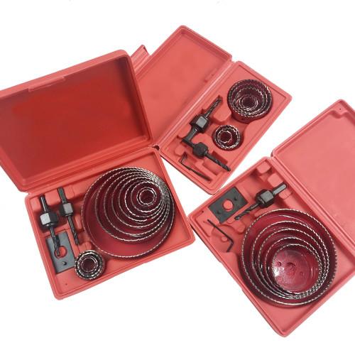 19mm-127mm Drill Bit Hole Saw Cutter Set For Cutting Mild Steel, Aluminum Gusset Plate, Plastic, Wood, Gypsum Board