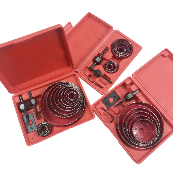 19mm-127mm Drill Bit Hole Saw Cutter Set Compatible with Cutting Mild Steel, Aluminum Gusset Plate, Plastic, Wood, Gypsum Board