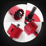 16mm-75mm Drill Bit Hole Saw Cutter Compatible with Cutting Mild Steel, Aluminum Gusset Plate, Plastic, Wood, Gypsum Board