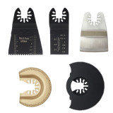 16pcs Oscillating Multi Tool Saw Blade Stainless Steel Scraper Grout Removing Disc Semi-Circular Saw Blade Sandpaper Compatible with Woodworking Power Hand Tool Mixed Vibration Saw