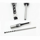 1/4'', 5/16'', 3/8'', 7/16'', 1/2'', 9/16'', 5/8'', 3/4'', 7/8'', 1'' Woodworking Square Hole Mortising Chisel Drill Bit