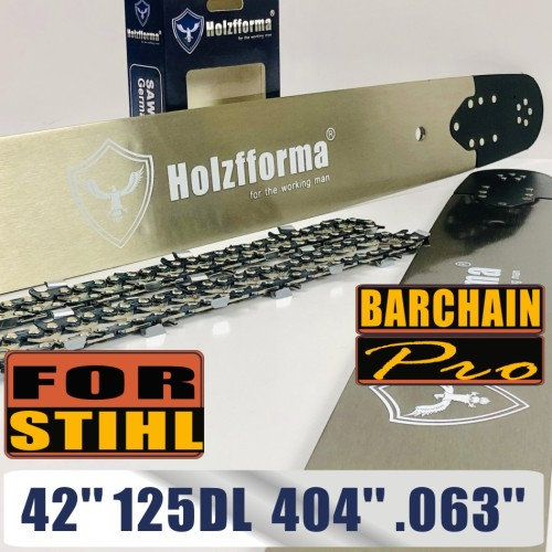 Holzfforma® 42 Inch .404 .063 125Drive Links Guide Bar & Full Chisel Saw Chain Combo For Stihl 088 MS880 070 090 084 076 075 051 050 Chainsaw