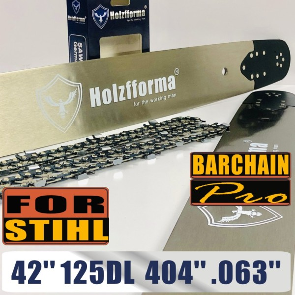 Holzfforma® 42 Inch .404 .063 125Drive Links Guide Bar & Saw Chain Combo Compatible with Stihl 088 MS880 070 090 084 076 075 051 050 Chainsaw