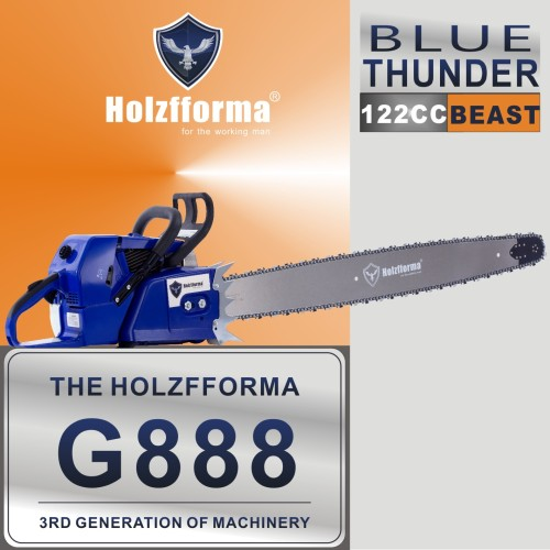 122cc Holzfforma® Blue Thunder G888 Gasoline Chain Saw Power Head Without Guide Bar and Chain Produced By Farmertec All parts are Compatible With MS880 088 Chainsaw