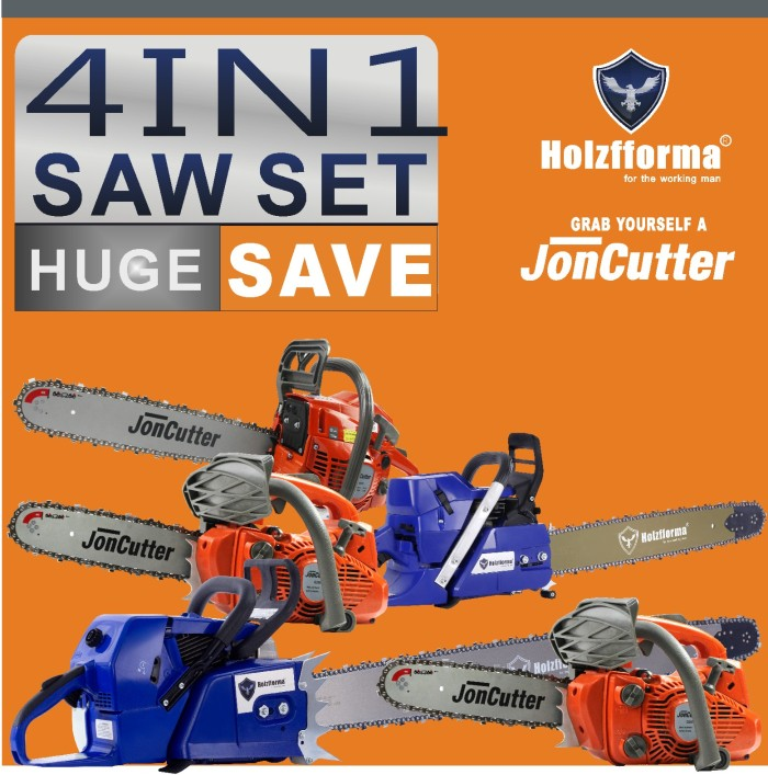 4IN1 SAW SET POWER HEAD ONLY PICK FOUR UNITS Holzfforma JonCutter Prebuilt Chain Saws G888 G660 G466 G444 G388 G366 G255 G111 G372 G372XP G2500 G4500 G5800 Without bar and chain