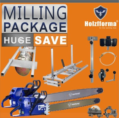 HOLZFFORMA® MILLING PACKAGE Bundle Sale Pick Your 5 Units Mill Equipments, Chainsaw,Chainsaw Mill, Auxiliary Oiler With Winch,9FT Mill Rail,Chain&Bar,High Output Oiler