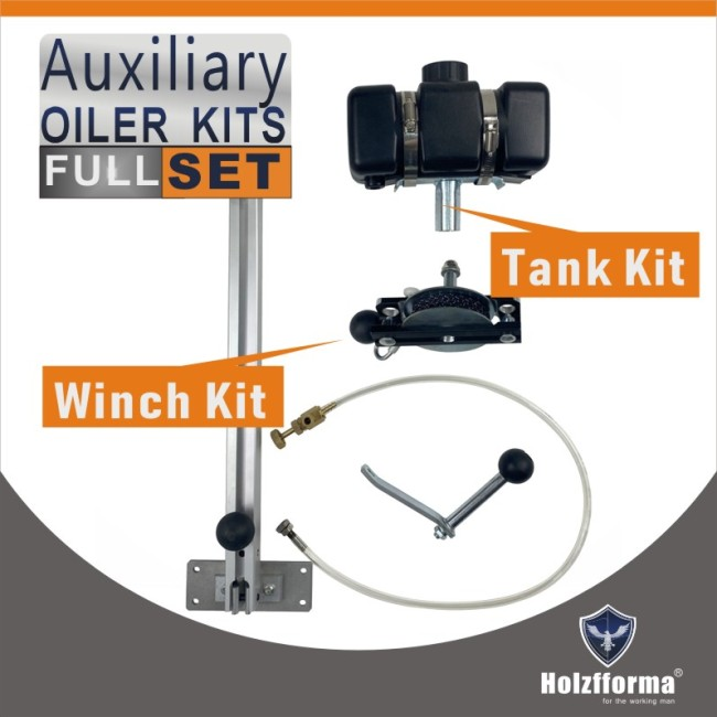 Complete Aux Auxiliary Oiler Equipment with winch and lever arm for chain saw mill and lumber milling