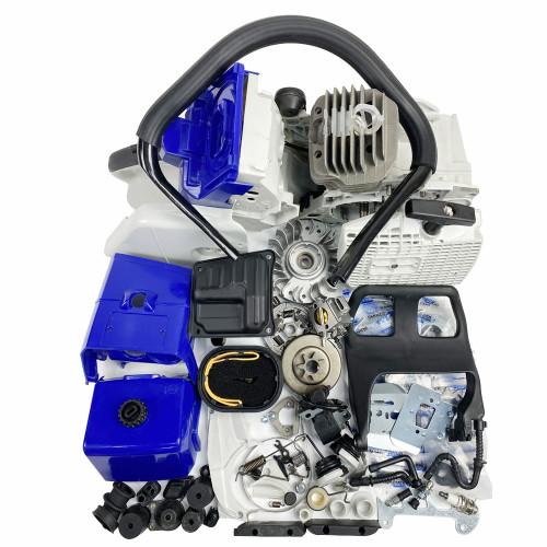 Complete Repair Parts For Stihl MS440 044 Chainsaw Engine Crankcase Gas Fuel Tank Ignition Coil Crankshaft Carburetor Cylinder Piston Recoil Starter Muffler