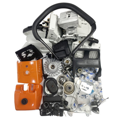 Complete Aftermarket Repair Parts For STIHL MS460 046 Chainsaw Engine Crankcase Gas Fuel Tank Ignition Coil Crankshaft Carburetor Cylinder Piston Recoil Starter Muffler Aftermarket Stihl MS 460 046 Parts
