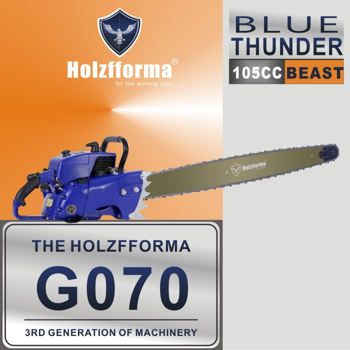 105cc Holzfforma® Blue Thunder G070 Gasoline Chain Saw Power Head Only Without Guide Bar and Saw Chain All Parts Are For 070 090 MAGNUM Chainsaw