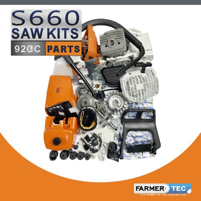 Complete Aftermarket Repair Parts For STIHL MS660 066 Chainsaw Engine Motor Crankcase Crankshaft Carburetor Fuel Tank Cylinder Piston Ignition Coil