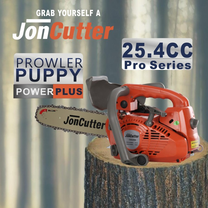 25.4cc JonCutter G2500 Top Handle Arborist Gasoline Chainsaw Power Head Without Saw Chain and Guide Bar