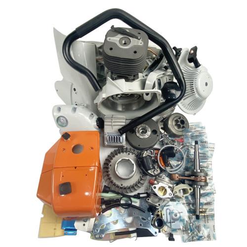 Complete Repair Parts For Stihl 070 090 Chainsaw Engine Motor Crankcase Crankshaft Cylinder Piston Chain Sprocket Cover Muffler Carburetor Handle Bar