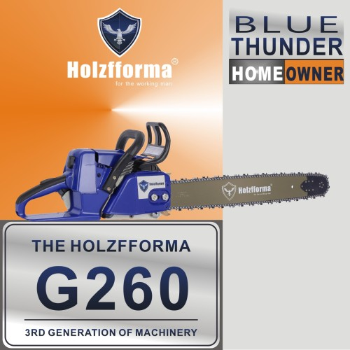 50.2cc Holzfforma® Blue Thunder G260 Gasoline Chain Saw Power Head Without Guide Bar and Chain Top Quality By Farmertec All Parts Are For Stihl MS260 026 MS240 024 Chainsaw