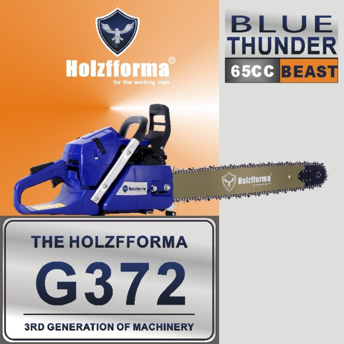 65cc Holzfforma® Blue Thunder G372 Gasoline Chain Saw Power Head Without Guide Bar and Chain Top Quality By Farmertec All Parts Are For Husqvarna 365 Chainsaw