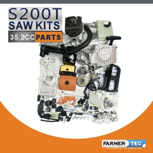 Complete Aftermarket Repair Parts For STIHL MS200T 020T Chainsaw Engine Motor Crankcase Crankshaft Carburetor Fuel Tank Cylinder Piston Ignition Coil