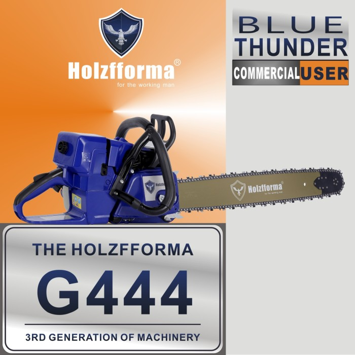 71cc Holzfforma® Blue Thunder G444 Gasoline Chain Saw Power Head Without Guide Bar and Chain Top Quality By Farmertec All parts are For MS440 044 Chainsaw