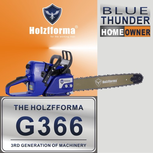 59cc Holzfforma® Blue Thunder G366 Gasoline Chain Saw Power Head Only Without Guide Bar and Saw Chain Parts Are For MS361 Chainsaw