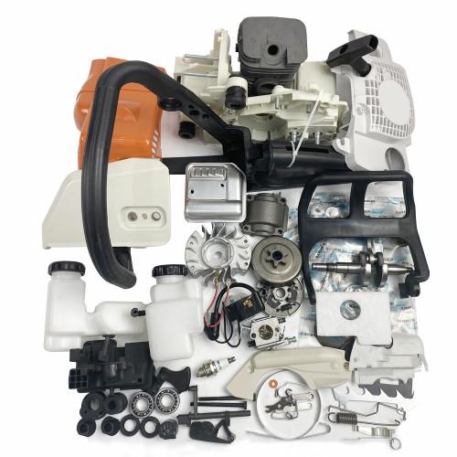 Complete Repair Parts For STIHL MS180 018 Chainsaw Engine Motor Crankcase Crankshaft Carburetor Fuel Tank Cylinder Piston Ignition Coil