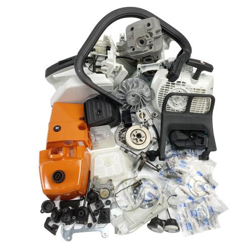 Complete Repair Parts For STIHL MS361 ENGINE MOTOR CRANKCASE CRANKSHAFT CYLINDER PISTON CARBURETOR SHROUD TOP COVER CHAINSAW