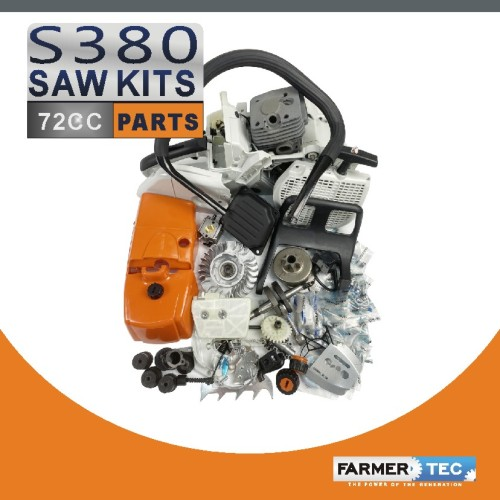 Complete Repair Parts For Stihl 038 MS380 MS381 Chainsaw, Stihl 038 parts, Stihl MS380 parts, Crankcase Crankshaft Carburetor Fuel Tank Cylinder Piston