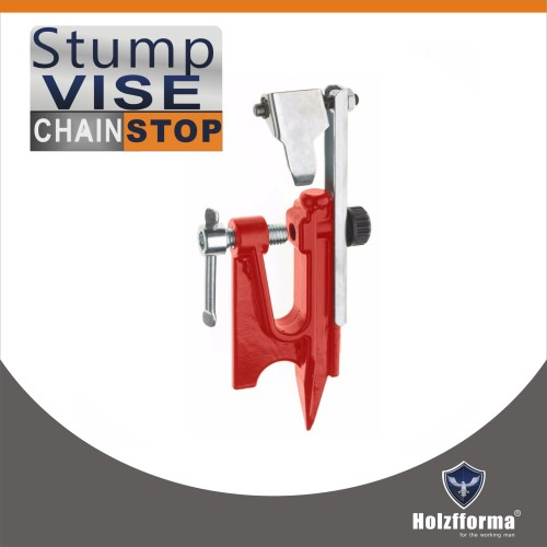 Holzfforma Chain Filing Stump Vise WITH CHAIN STOP For Filing Chainsaw chains Saw Sharpening Filing Tool Bar Clamp