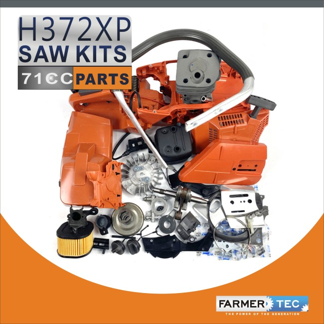 Complete Repair Parts For Husqvarna 372XP Chainsaw Crankcase Engnie Motor Cylinder Crankshaft Fuel Tank Ignition Coil Carburetor Muffler High Type Air Filter Cover
