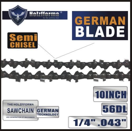 Holzfforma® 1/4'' .043'' 10inch 56DL Semi Chisel Chainsaw Saw Chain Replaces Stihl# 3670 005 0056 71PM3 56