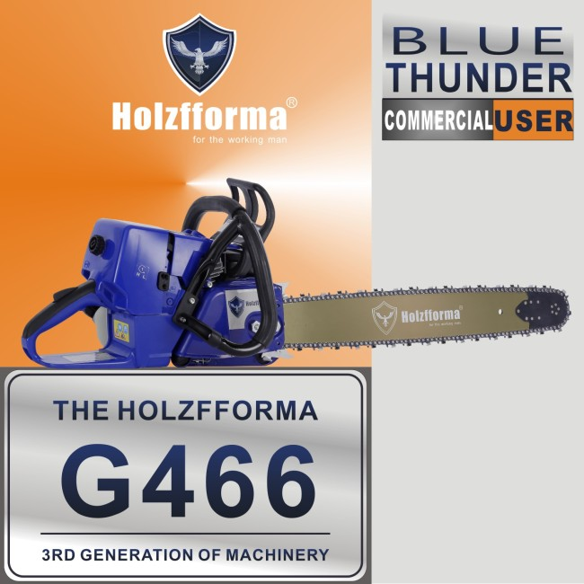US STOCK - Holzfforma® 76.5CC Blue Thunder G466 MS460 046 Gasoline Chain Saw Power Head Without Guide Bar and Chain 2-4 Days Delivery Time Fast Shipping For US Customers Only
