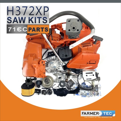 US STOCK - Complete Repair Parts For Husqvarna 372XP Chainsaw Crankcase Engnie Motor Cylinder Crankshaft Fuel Tank Ignition Coil Carburetor Muffler High Type Air Filter Cover 2-4 Days Delivery Time Fast Shipping For US Customers Only