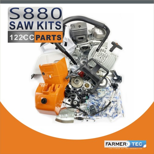 US STOCK -  Farmertec Complete Aftermarket Repair Parts Kit For STIHL MS880 088 Chainsaw Engine Motor Crankcase Crankshaft Carburetor Fuel Tank Cylinder Piston Ignition Coil Muffler 2-4 Days Delivery Time Fast Shipping For US Customers Only