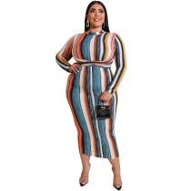 Plus Size Long Sleeve Bodycon Mini Dress 19541