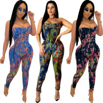 Tie Dye Jumpsuit Women 8365