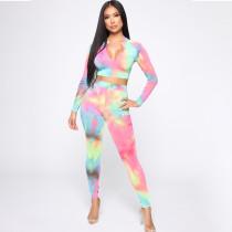 Tie Dye Two Piece Pants Set S971022A