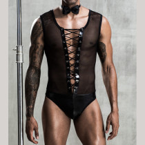 Men Bunny See-through Lingerie Set Play Outfit TJSY7220