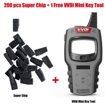 200pcs Xhorse VVDI Super Chips XT27 Get 1 Set Free VVDI Mini Key Tool Free