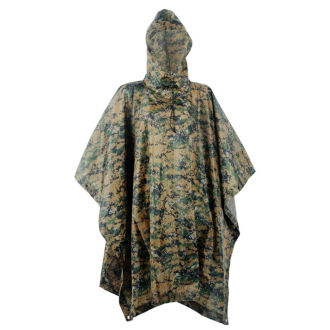 Multifunction Camo Rain Poncho For Outdoor Camping, Hunting, Military