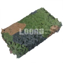High Quality 210D Polyester Oxford Woodland Camouflage Net Three Color Many Sizes To Choose
