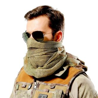 Tactical Camouflage Mesh Net Scarf Many Colors To Choose