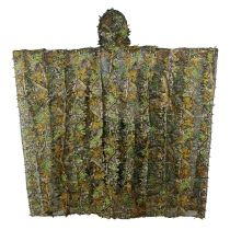 Maple Leaves Camouflage Rain Poncho Style Ghillie Suit For Hunting, Wargames And Other Outdoor Activities
