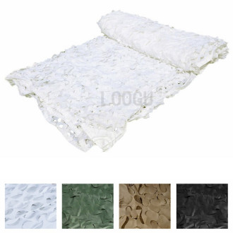 150D Polyester Oxford Many Sizes Snow Camouflage Netting To Choose