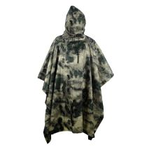 Multifunction AT-FG Camo Rain Poncho For Outdoor Camping,Hunting,Military