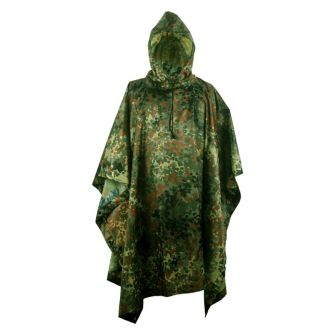 Multifunction German Flecktarn Camo Rain Poncho For Outdoor Camping,Hunting,Military
