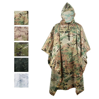 Multifunction Camo Rain Poncho For Outdoor Camping,Hunting Many Colors For Choose