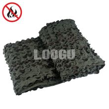 Army Green And Dark Brown Fire Retardant Coating Camo Netting With Mesh And Ropes Many Sizes For Choose