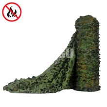 Fire Retardant Bulk Roll Woodland Camo Netting (4.9FT Width,Length Customiazation sell by Meter)