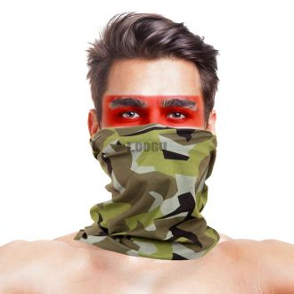 Sweden M90 Woodland Camo Multifunctional Seamless Bandanas Headwear